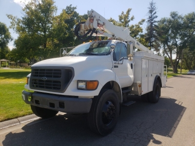 2000 FORD F-650 // Bucket Truck // Fleet Maintained