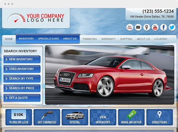 Car Dealer Websites and Auto Dealer Websites by V12 Software – Land Inventory Template